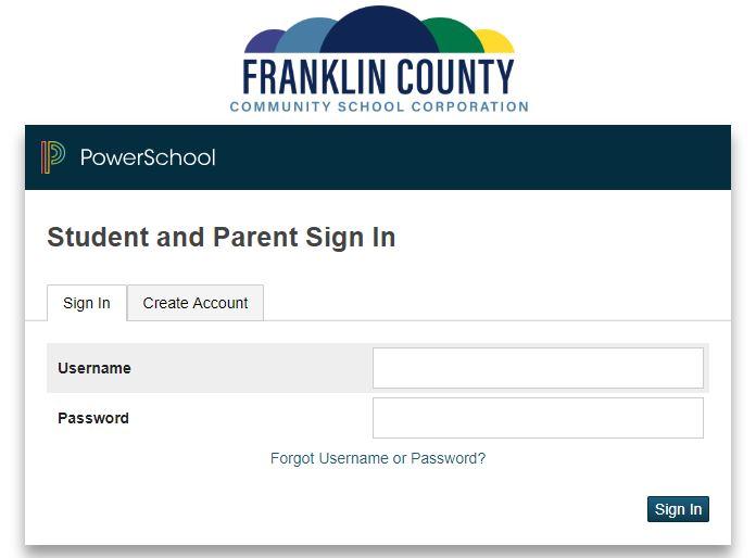 Power School Parent Portal Directions - Franklin County